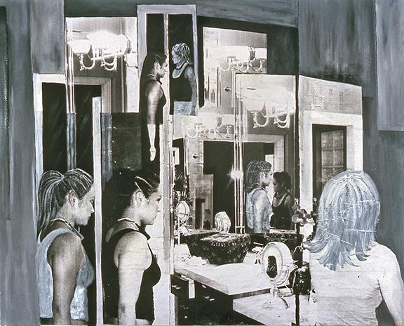 "Identity Crises<br>36"" x 48"", Photomontage on Canvas"
