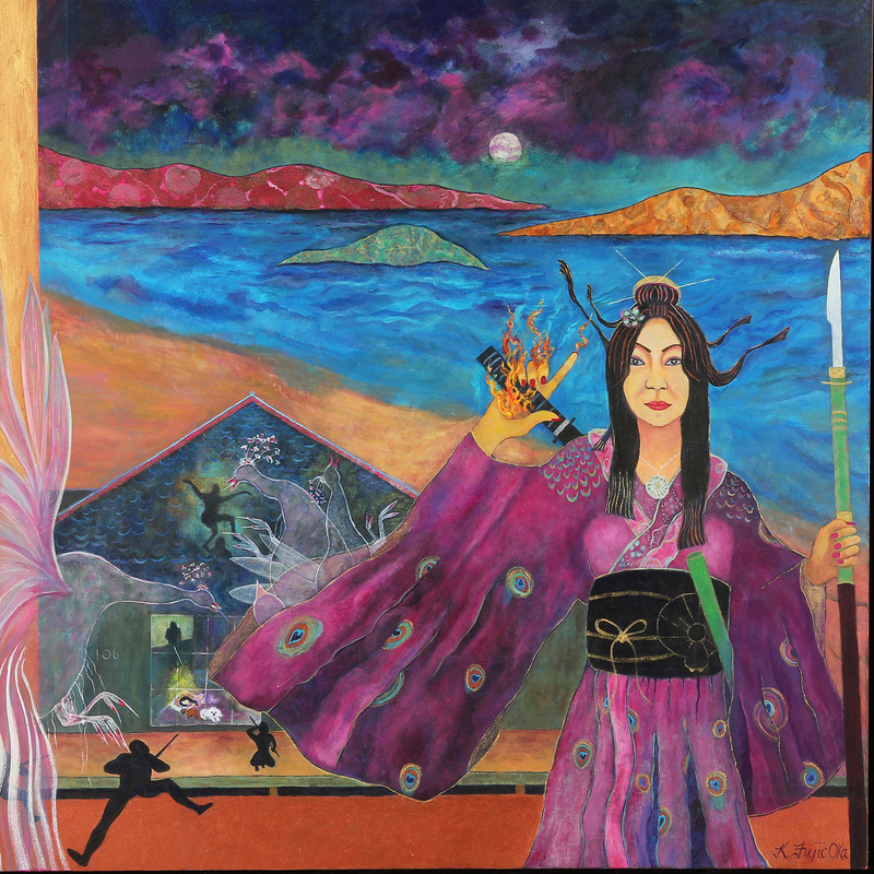 "Imdemnity<br>48"" x 48"", Acrylic on Canvas"