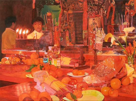 Bok Kai Temple. Acrylic on canvas. © 2009.