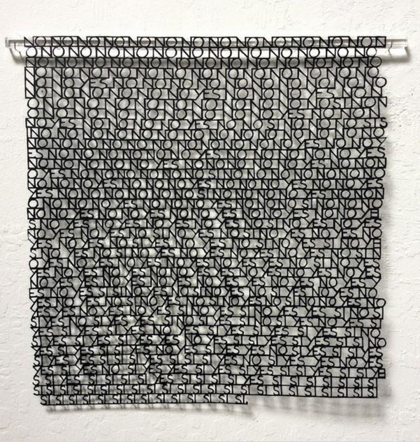 No Yes Sí , Handcut paper, 2015