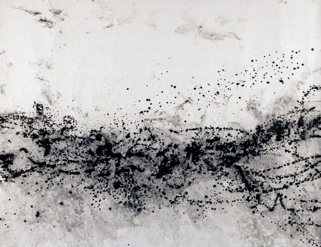 Sumi ink on handmade Iwano paper<br>83.5 in x 107.5 in