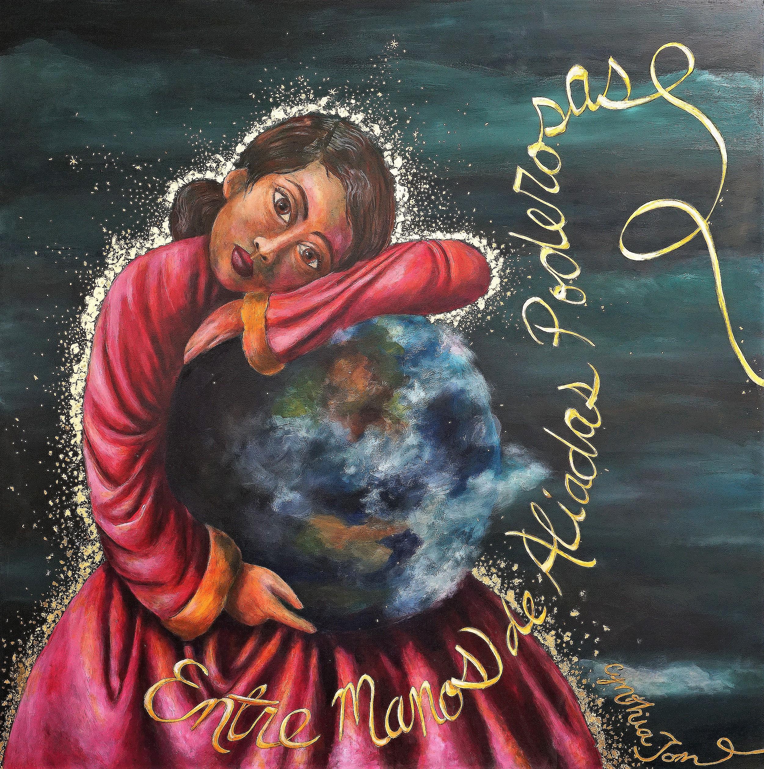 2019 Canal Alliance Mural Project_ Entre Manos Aliadas Poderosas, 4 x 4' acrylic on canvas,photo Cris Matos (96)