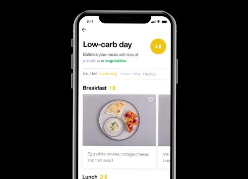 screenshot from the lumen app, ios phone