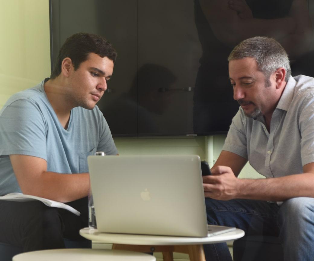 image of two lumen employees working