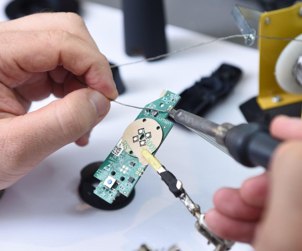 image of internal hardware item to the lumen device