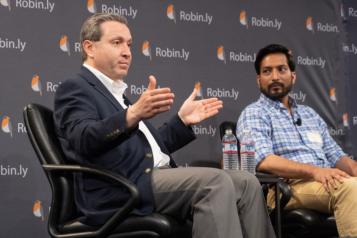 Louay Eldada, CEO & Co-Founder @ Quanergy and Nalin Gupta, Co-founder of Autonomous Driving Division (Auro) @ Ridecell in Panel Discussion, Robin.ly 2019 AI Commercialization Conference