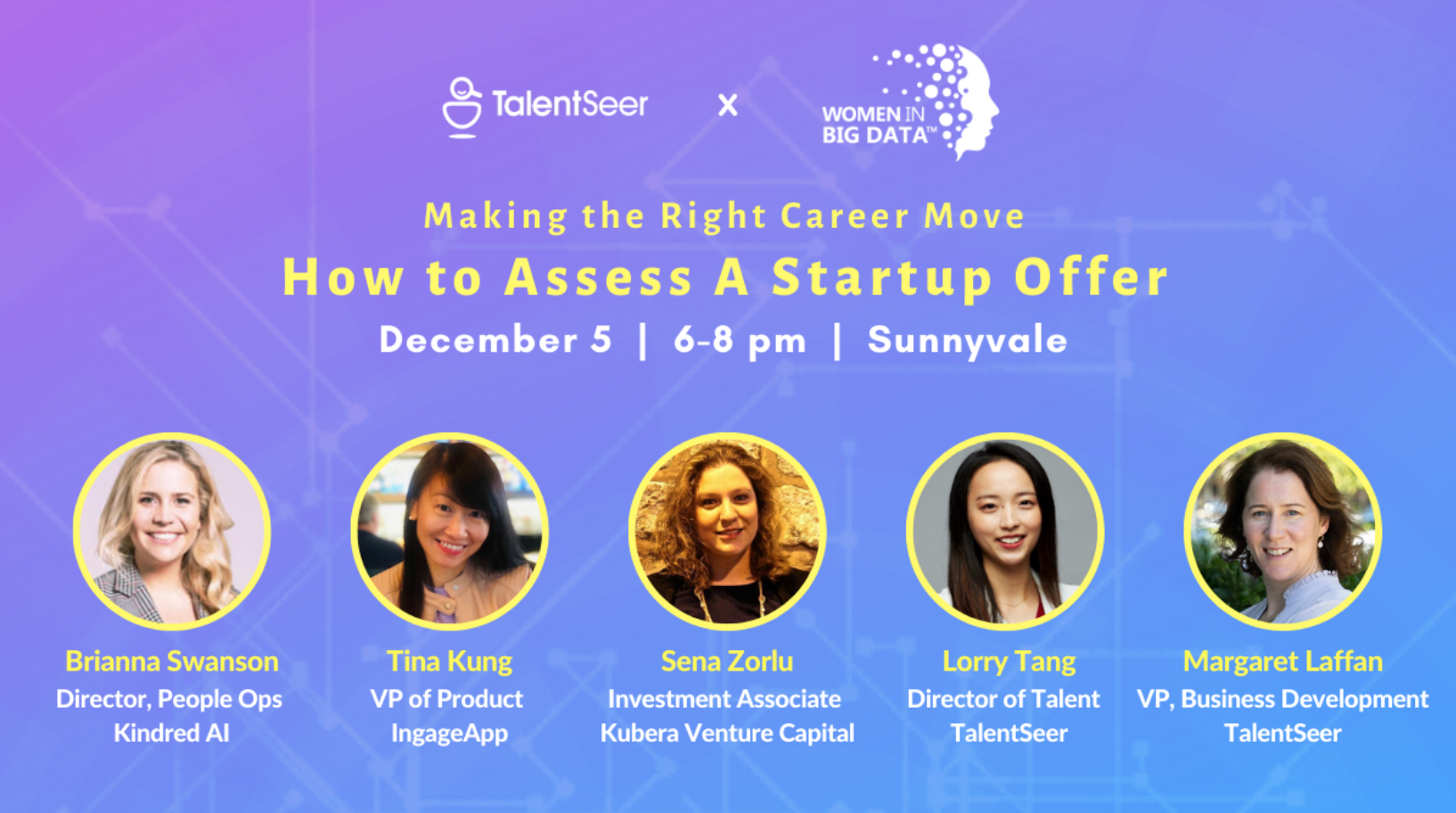 TalentSeer x WiBD meetup: How to access a start-up offer - Diversity in AI & Big Data