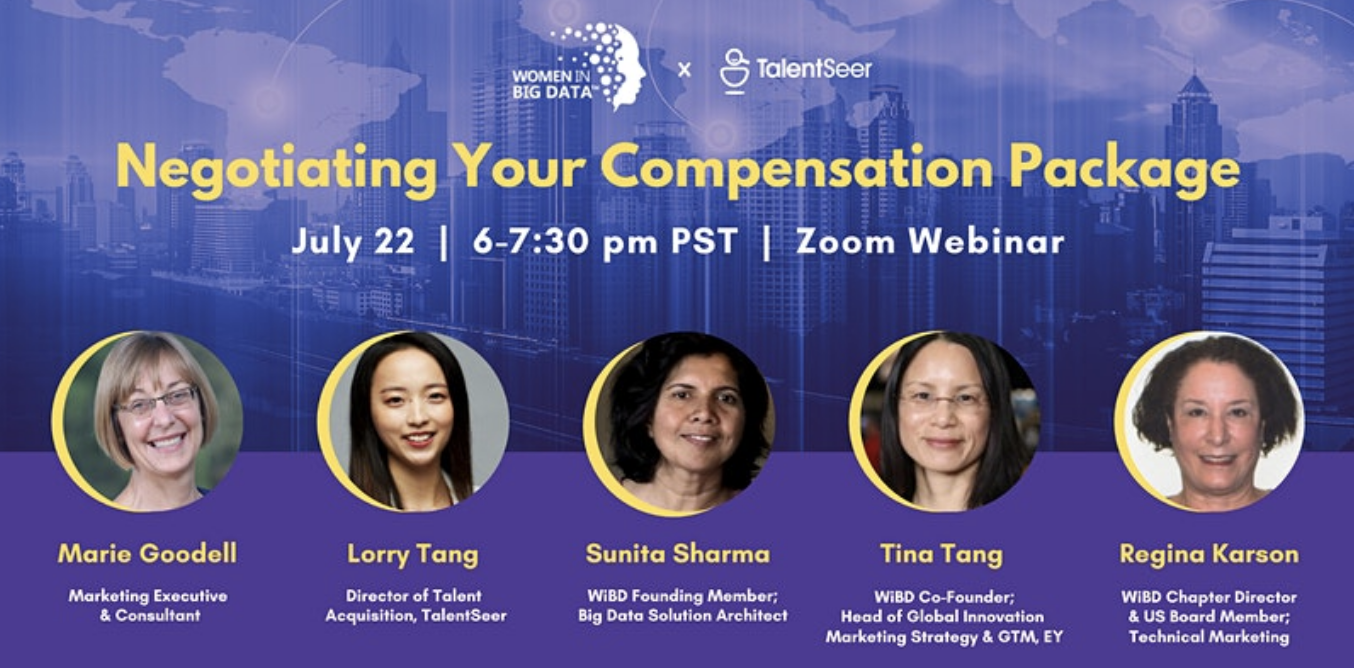Negotiating Your Compensation Package with Women in Big Data and TalentSeer - TalentSeer AI Talent News