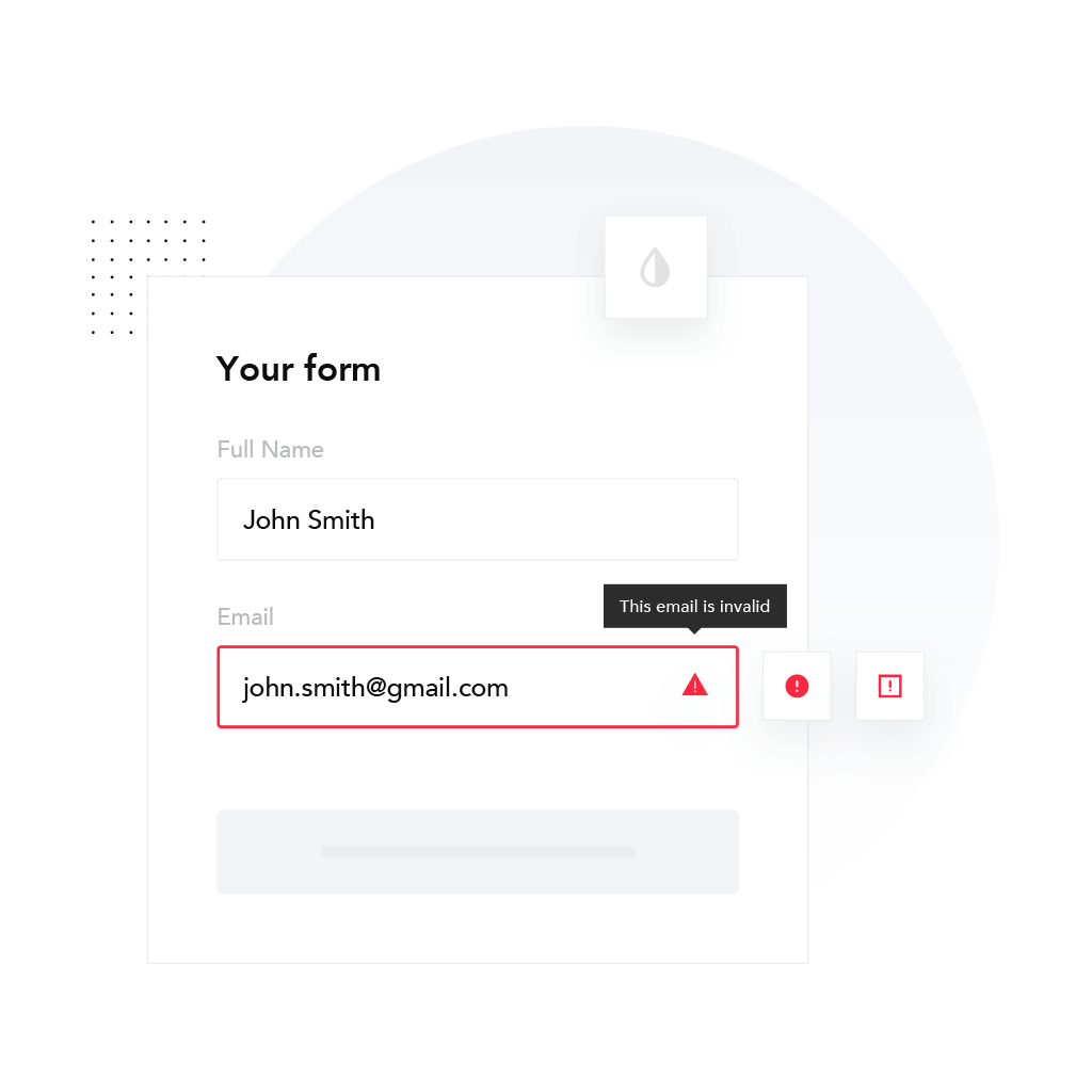 Email checker JavaScript widget
