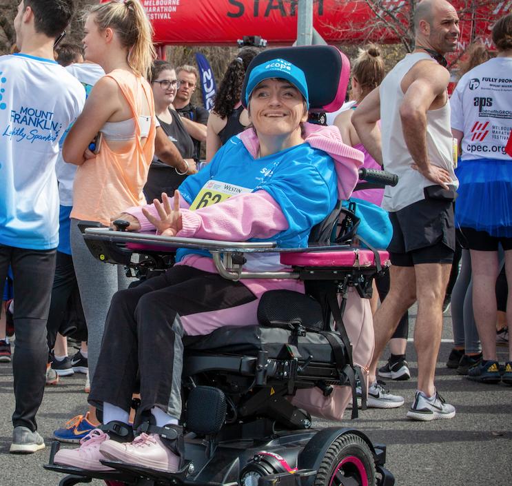 Phoot of Donna at the Melbourne Marathon.