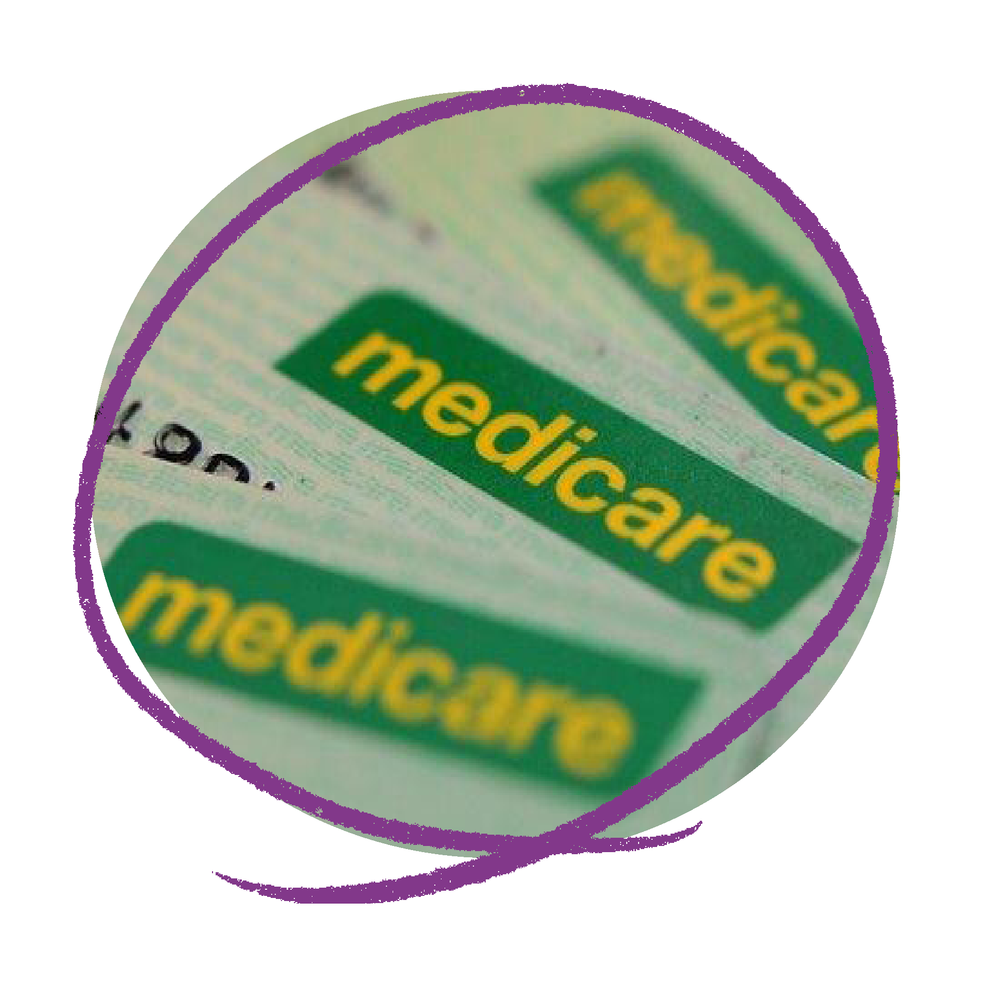 Photo of three Medicare cards layed on top of each other.