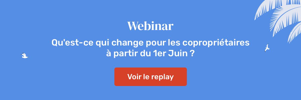 Webinar (replay) : Ordonnance ELAN, qu'est-ce qui change pour les copropriétaires à partir du 1er juin 2020 ?