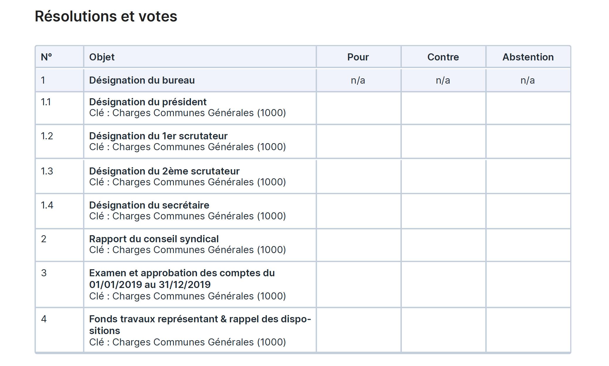 Bellman - Formulaire de vote par correspondance