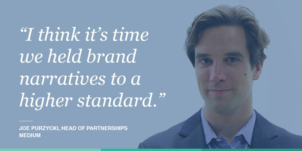 Joe Purzycki, Medium's head of partnerships