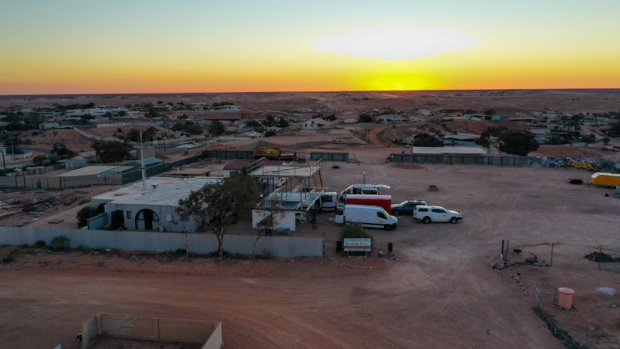 The base of Team Sonnenwagen in Coober Pedy