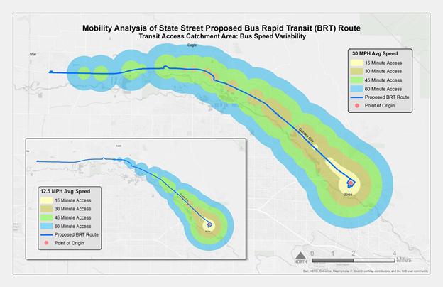 BRT route photo