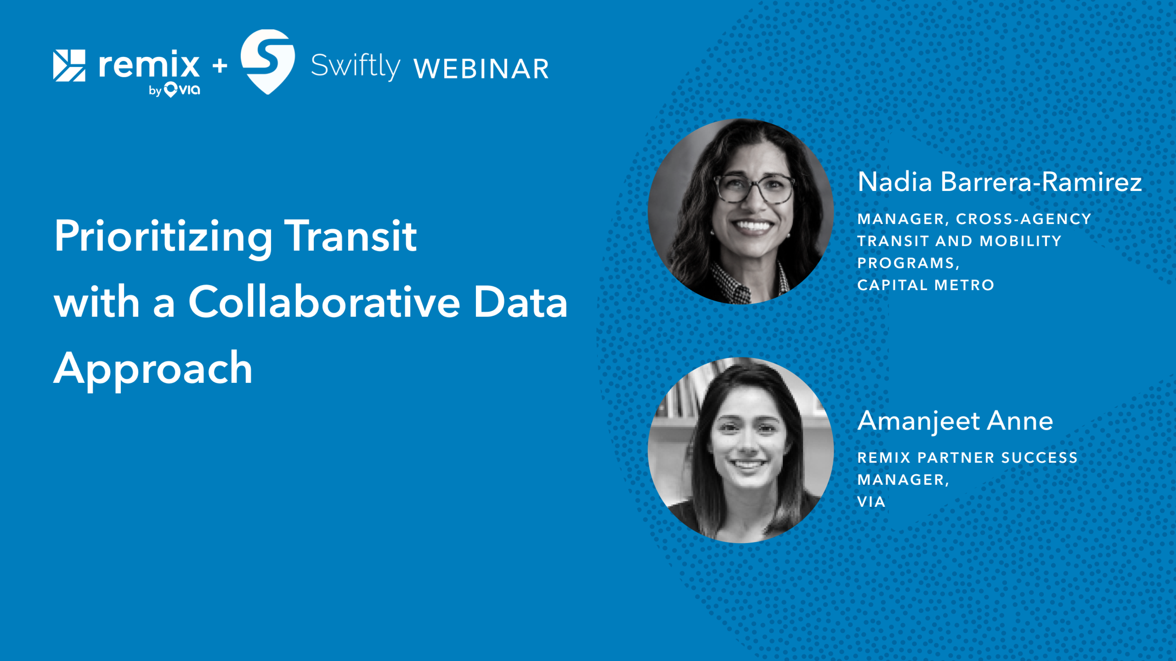 Prioritizing Transit with a Collaborative Data Approach: Webinar Recap