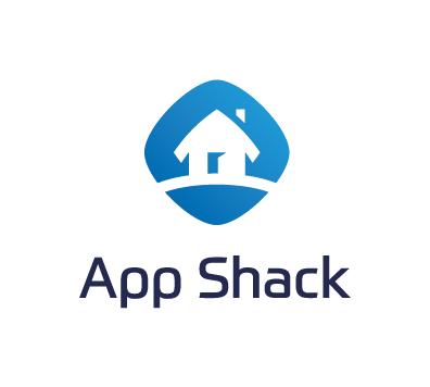 App Shack logo - white