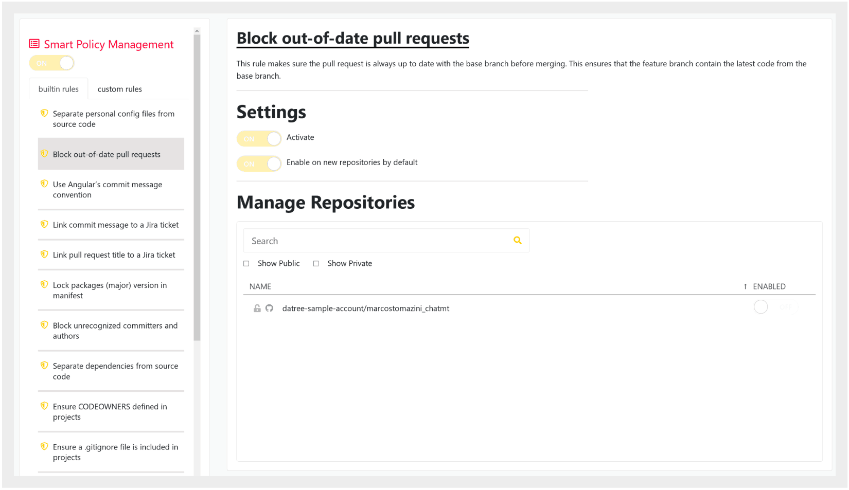 Block out-of-date git pull requests