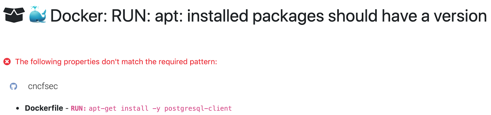 Installed Packages Should have a version