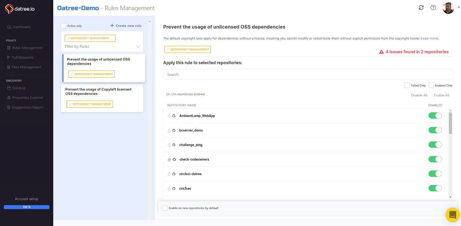 Datree-Demo Rules Management