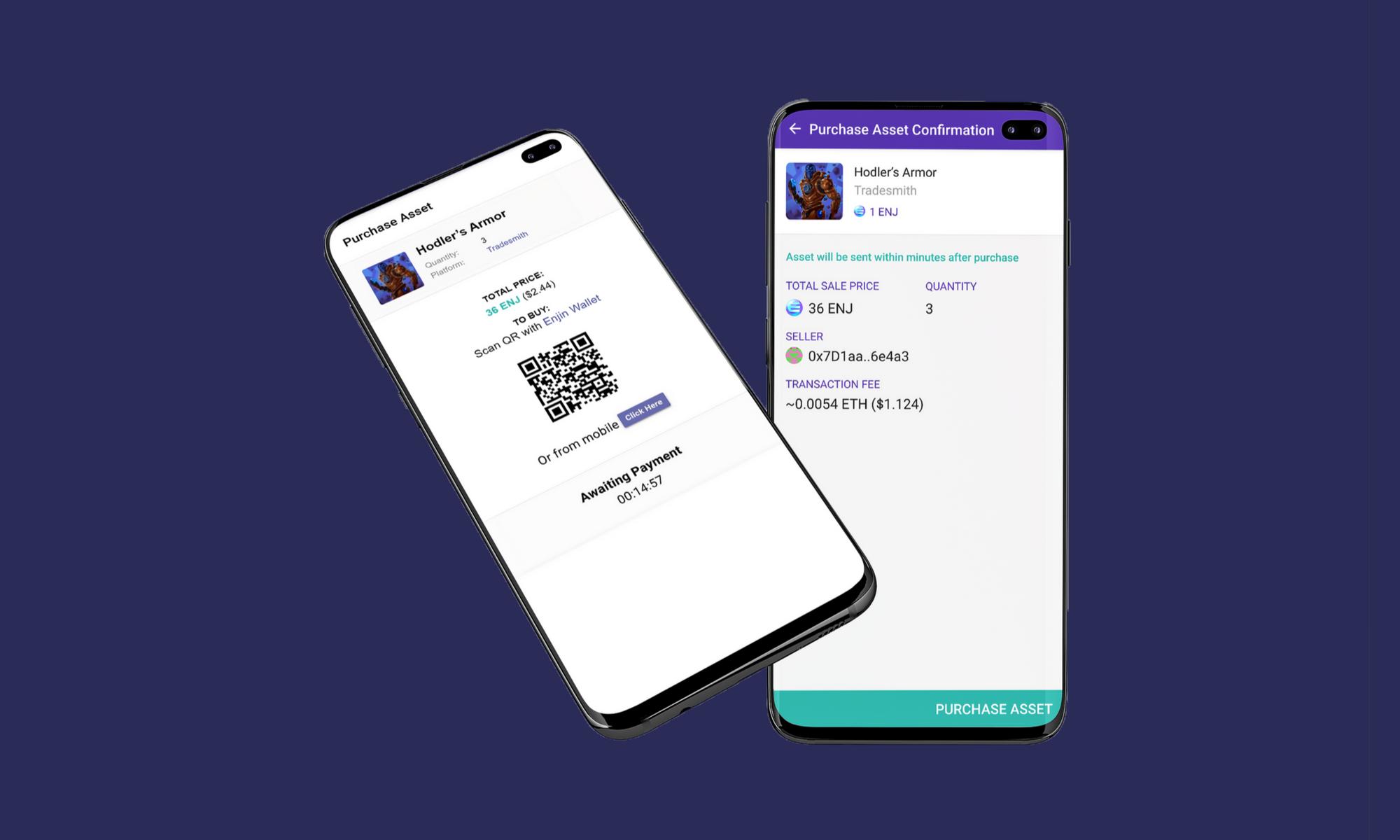 Enjin marketplace blockchain gaming crypto collectibles