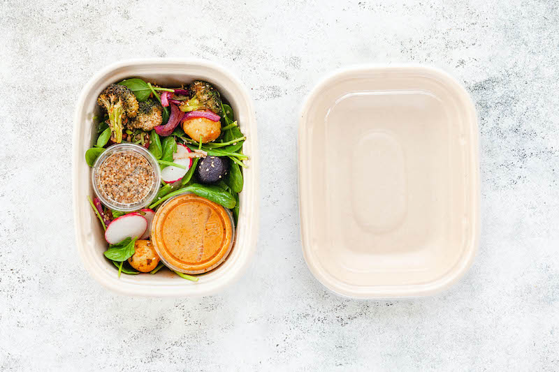 World Centric's sustainable packaging includes compostable containers that have a net zero carbon footprint.