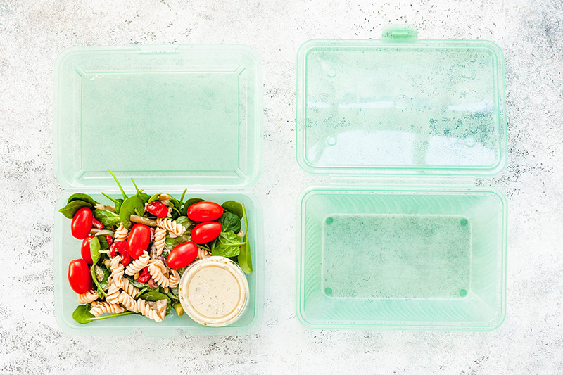 Because customers already return Thistle's bags and icepacks to be reused, Thistle has been exploring reusable food containers as a sustainable packaging option as well.
