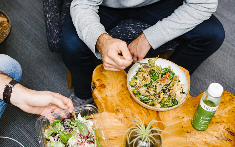 Thistle offer easy healthy lunches for work that can help you save you a lot of money and feel your best.