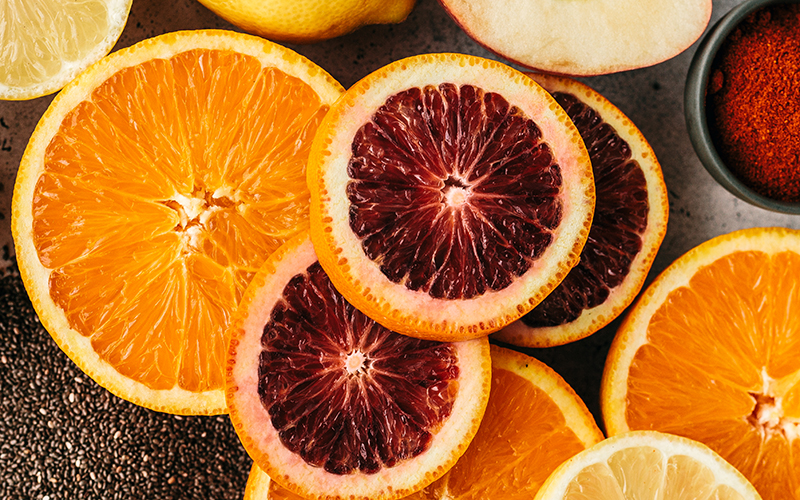 Citrus is one of the top immune boosting foods because it contains carbohydrates, fiber, vitamin C, potassium, folate, calcium, thiamin, niacin, vitamin B6, phosphorus, magnesium, copper, riboflavin, pantothenic acid and a variety of phytochemicals.