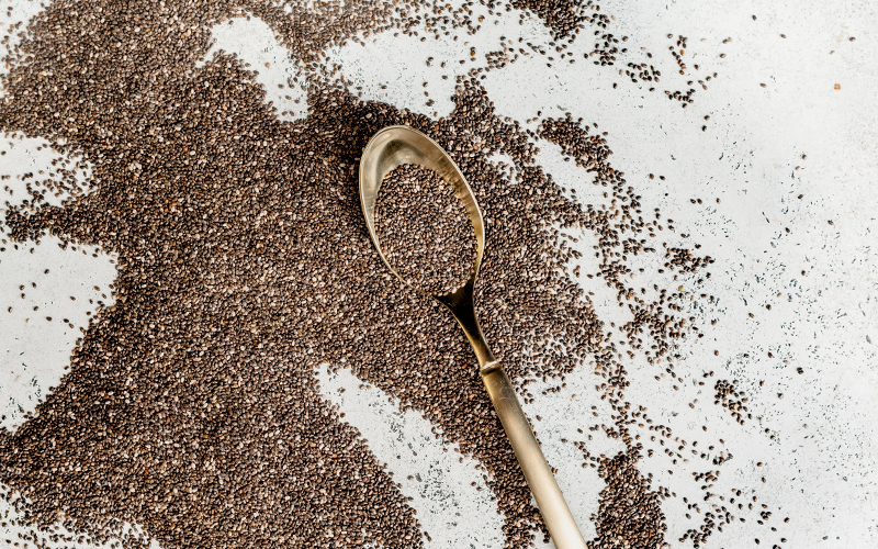 Some benefits of chia seeds include the fact they are a great source of fiber, protein, antioxidants, micronutrients, and omega-3 fatty acids. Chia seeds are small but mighty when it comes to nutrition!