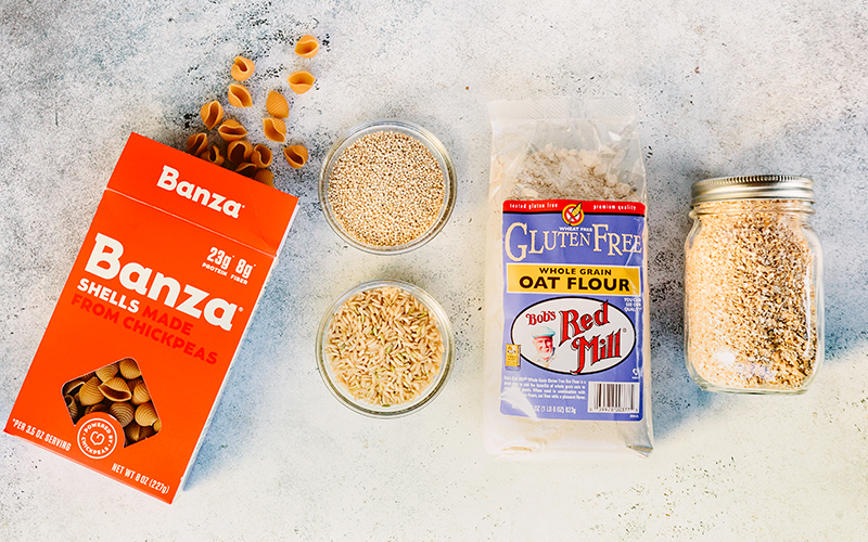 These are some of favorite gluten free flours  and pastas, definitely pantry staples.