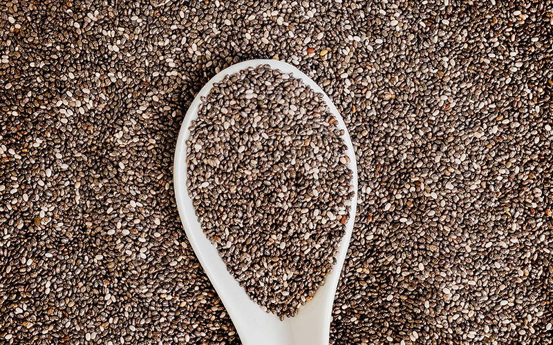 Immune boosting foods, like chia seeds, have all nine essential amino acids and are a complete protein.