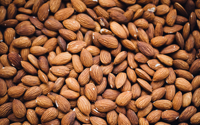 Almonds help build protein, produce oxygen, and are full of vitamin E, making them a great immune boosting food.
