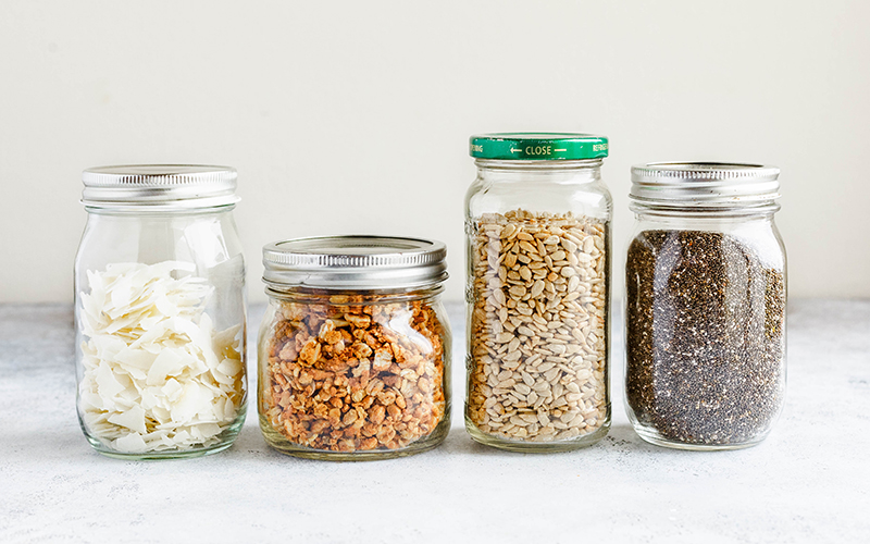 Looking for pantry organization ideas? Mason jars are a great place to start.