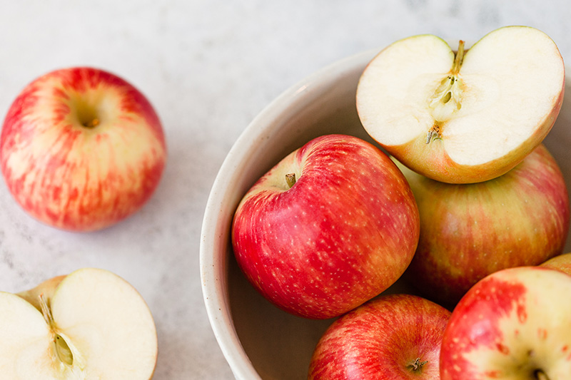 Unlike refined sugar, apples are filled with natural sugar, fiber, and nutrients that are good for your body.