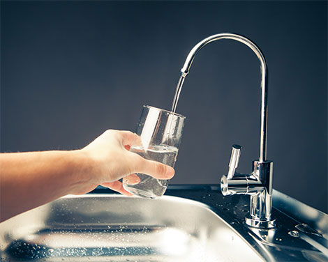 filtered water taps supporting