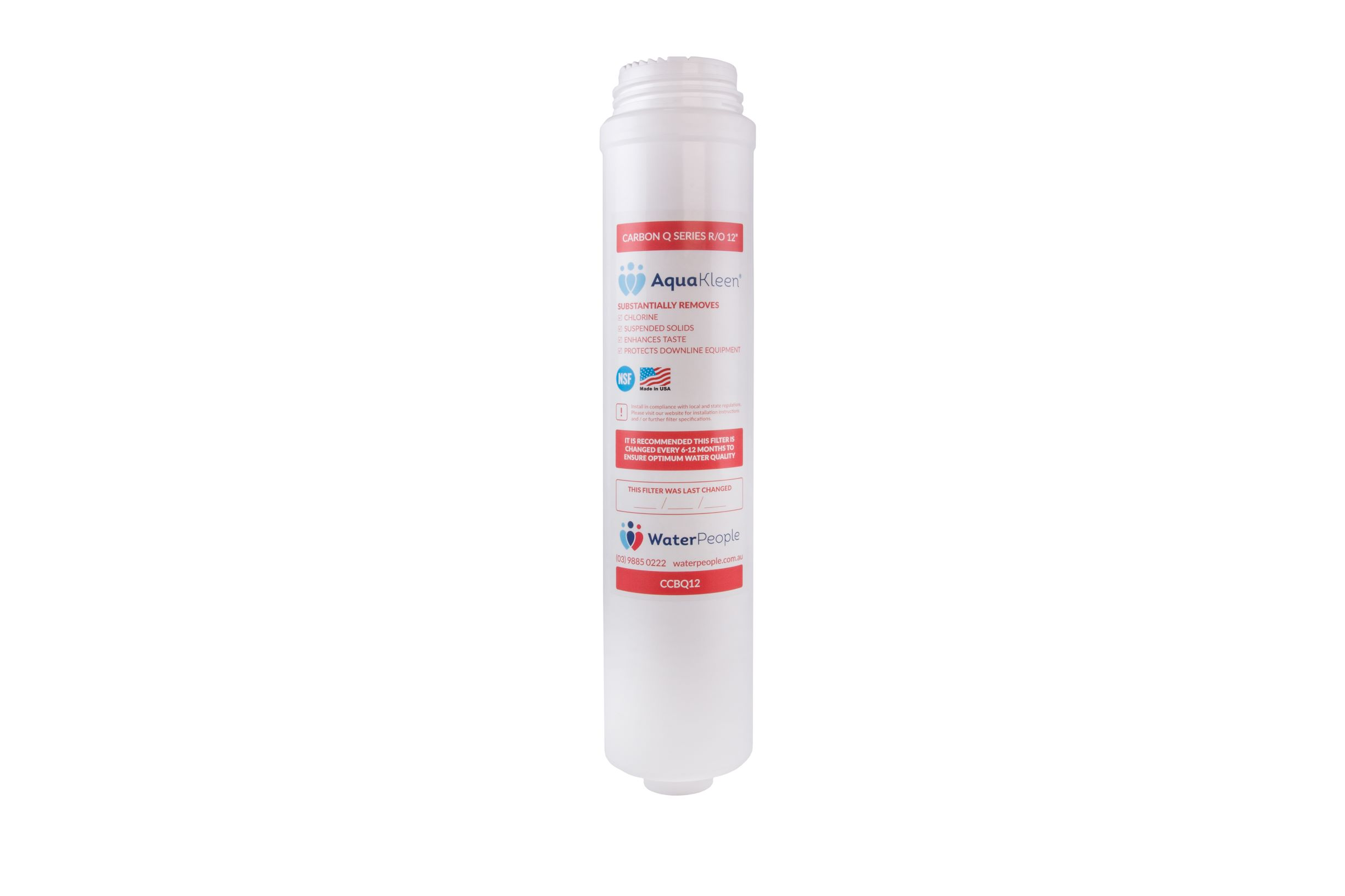 Aquakleen Q Series Carbon Filter Cartridge 12""