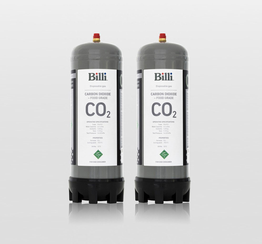 Billi 1kg (2 pack) Replacement CO2 Cylinders