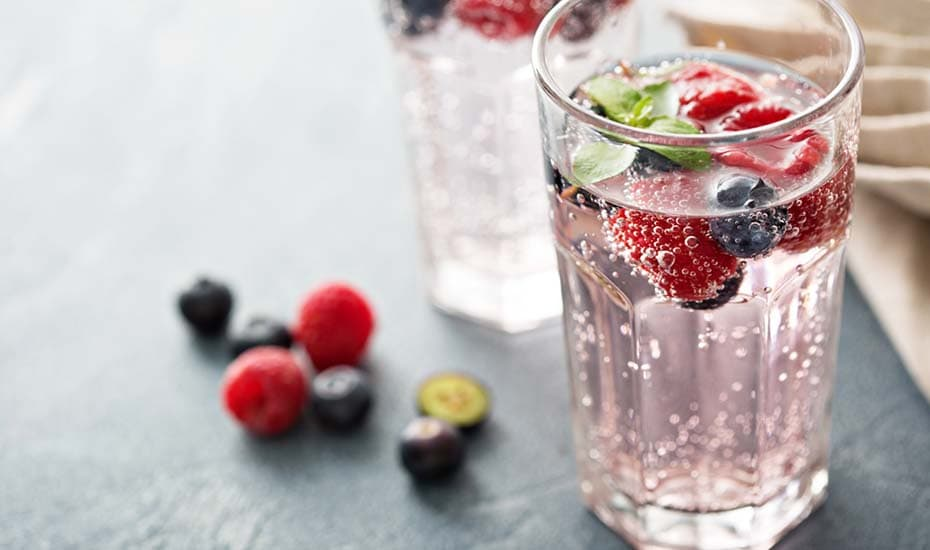 Sparkling water drinks