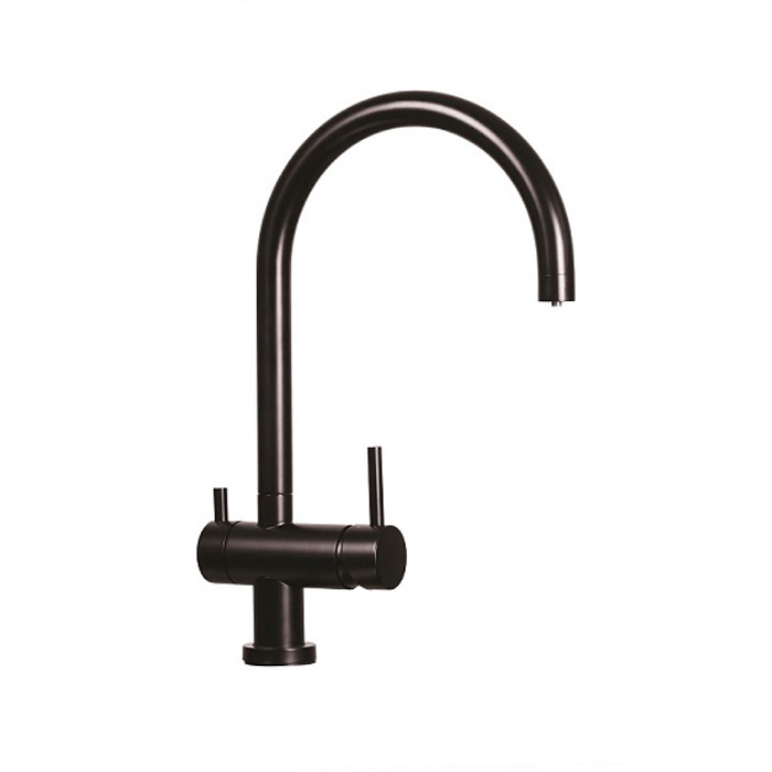 Matte Black 3 Way Mixer Tap Puretec Tripla 2