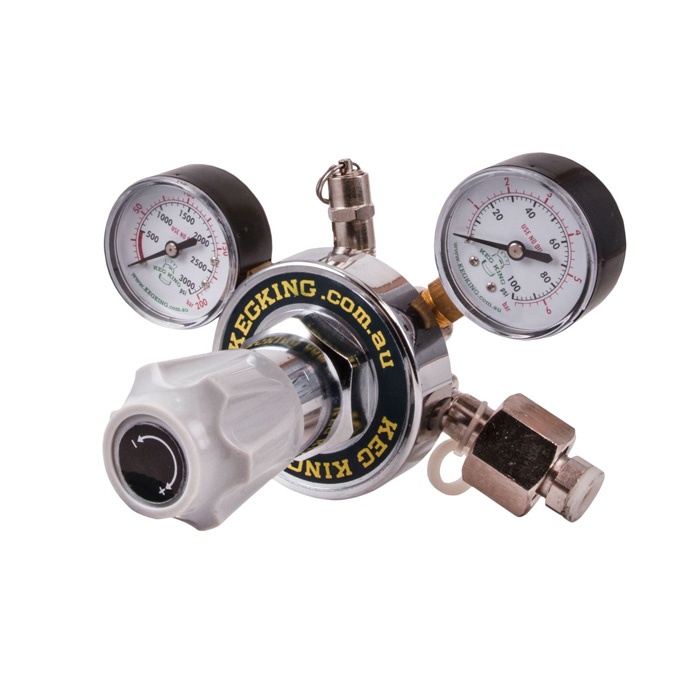 Keg King MKII Dual Gauge Multi Gas Regulator