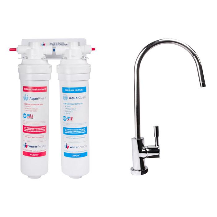 Aquakleen Ezi Twist Twin Water Filter System