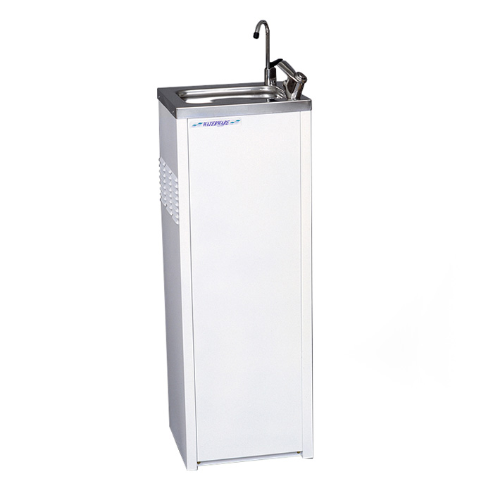 Enware Bubbler White Powder Coated Drinking Fountain