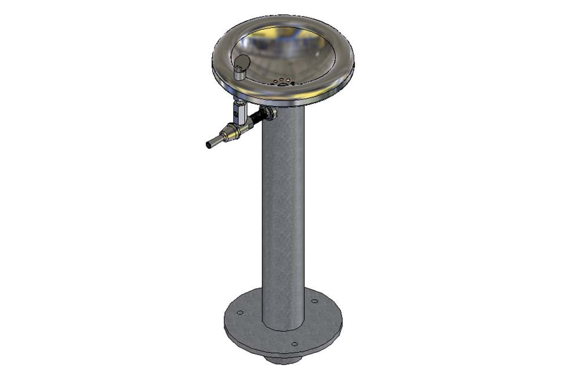 Enware Pedestal Outdoor Drinking Fountain - Adult Size