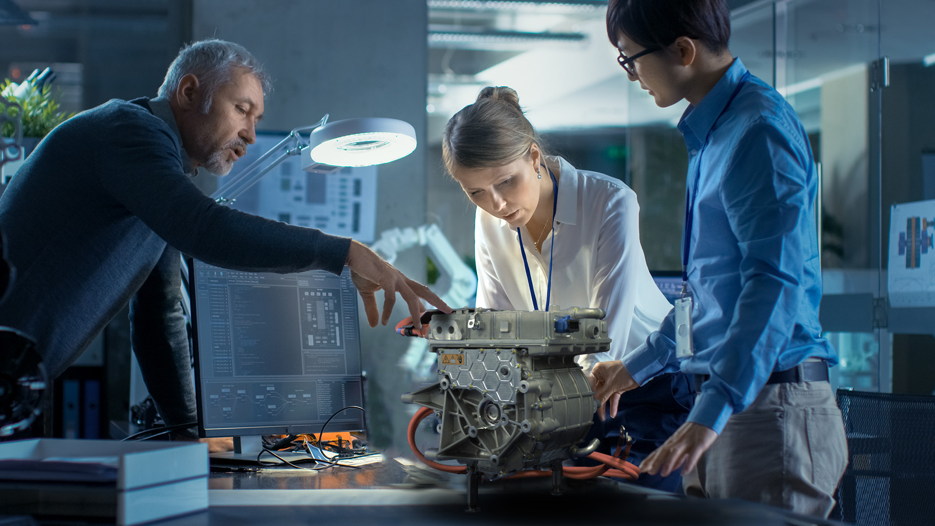 hofer powertrain electric drive unit development team