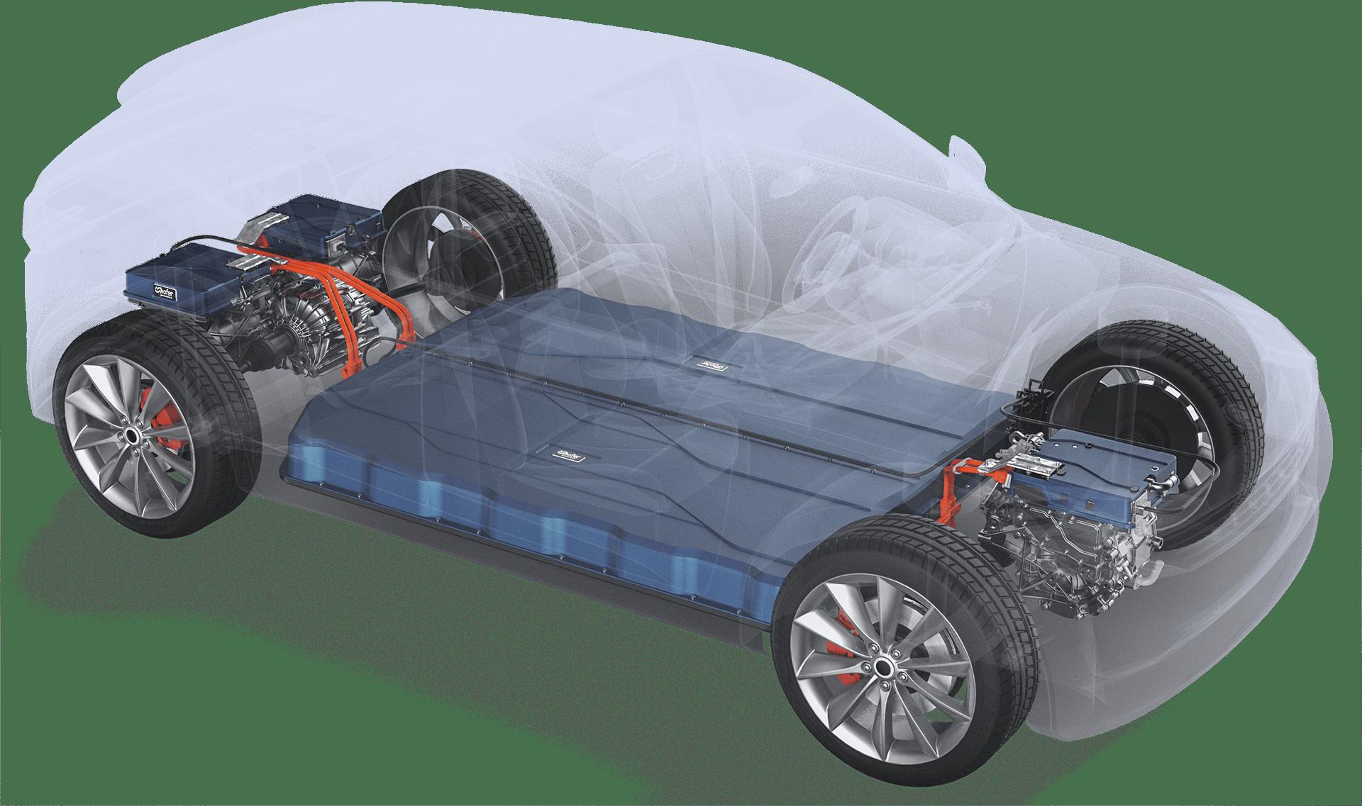 Electric drivetrain system by hofer powertrain
