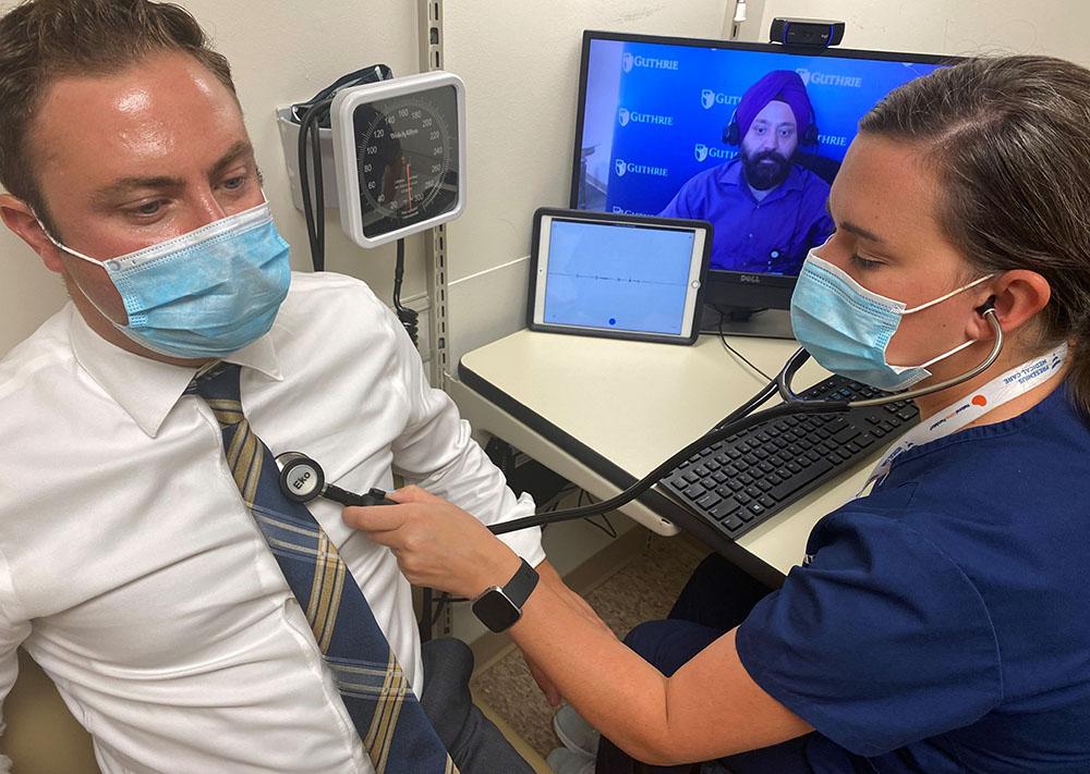 Nurses perform telemedicine exams with Eko stethoscopes.