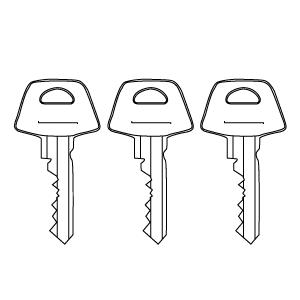 Likelås (samme nøkkel ved bestilling av flere dører)