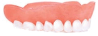 Beautiful upper arch denture